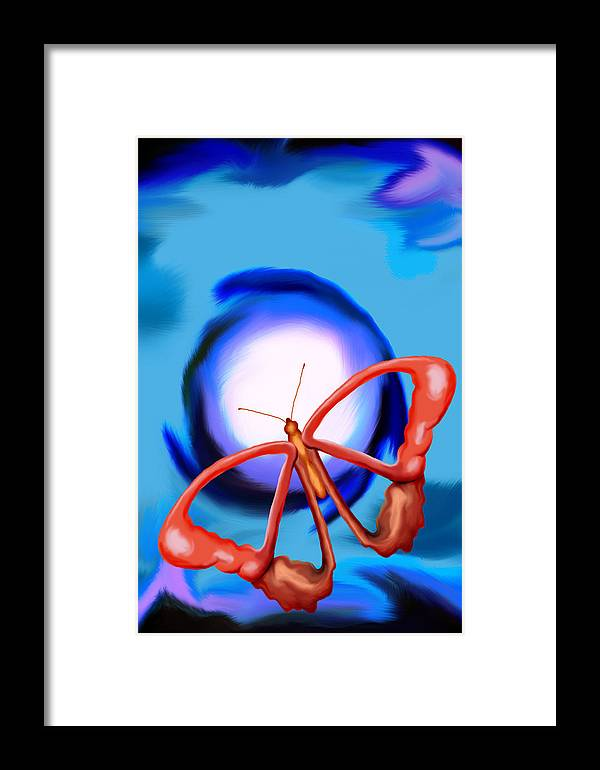 Butterfly Framed Print featuring the painting Chaos by Christopher Acosta
