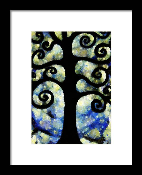 Chaos Framed Print featuring the photograph Chaos Tree On A Starry Night by Angelina Vick
