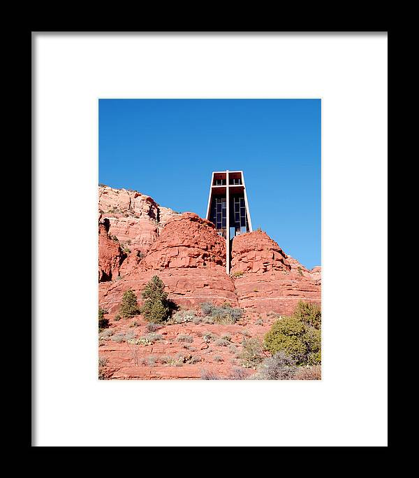 Chapel Framed Print featuring the photograph Chapel Of The Holy Cross by Diane Wood