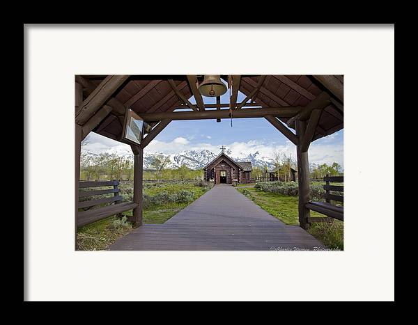 Grand Tetons Framed Print featuring the photograph Chapel Of Transfiguration 1 by Charles Warren