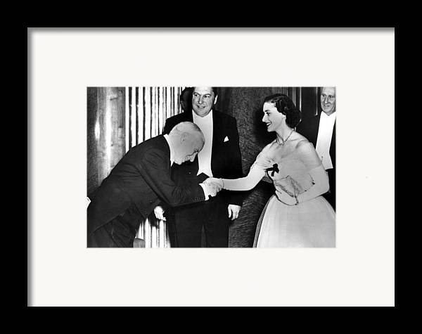 1950s Framed Print featuring the photograph Charlie Chaplin Meeting Princess by Everett