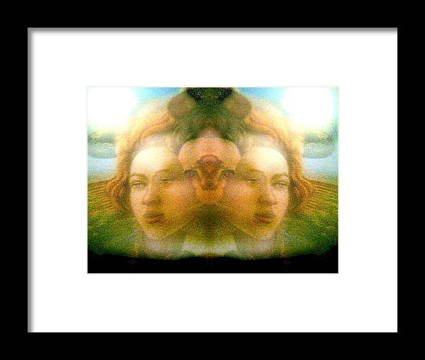 Face Framed Print featuring the photograph Charlote by Beto Machado