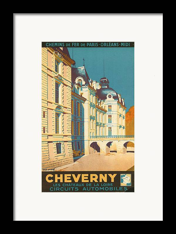 Ancient Framed Print featuring the digital art Chateau De Cheverny by Georgia Fowler