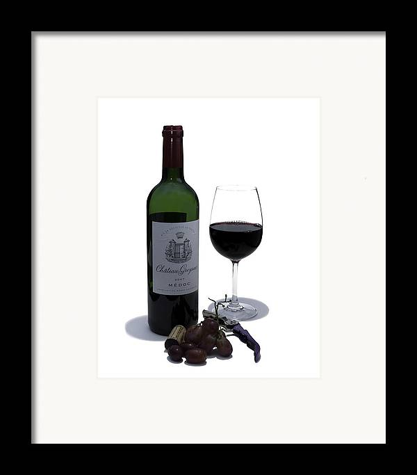 Wine Framed Print featuring the photograph Cheers by Nigel Jones