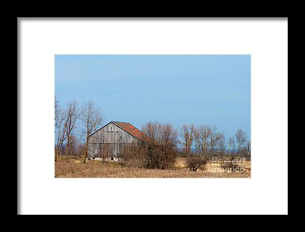 Barn Framed Print featuring the photograph Chequerboard Barn by Gary Chapple
