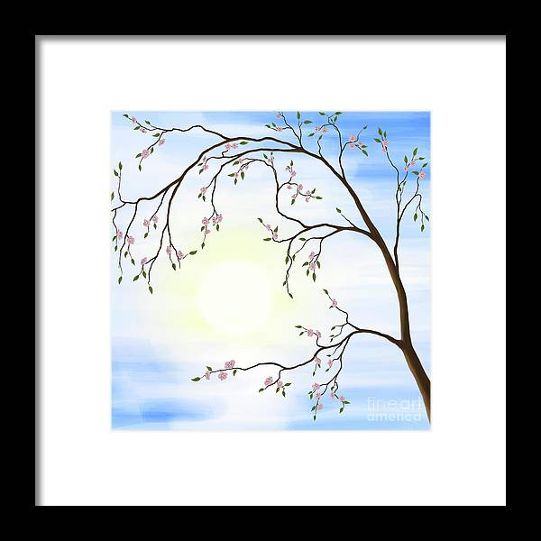 Cherry Blossom Framed Print featuring the photograph Cherry Blossom by Oleksiy Maksymenko