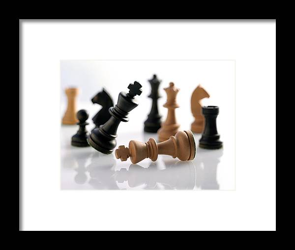 Piece Framed Print featuring the photograph Chess Pieces by Tony Mcconnell