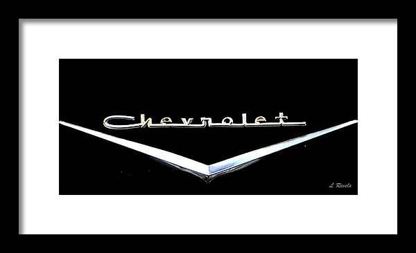 Chevrolet Framed Print featuring the photograph Chevrolet Logo by Leslie Revels