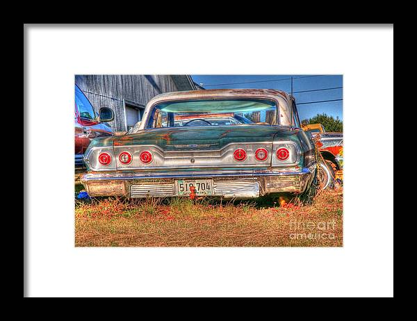 Chevy Framed Print featuring the photograph Chevy Blue by Brenda Giasson