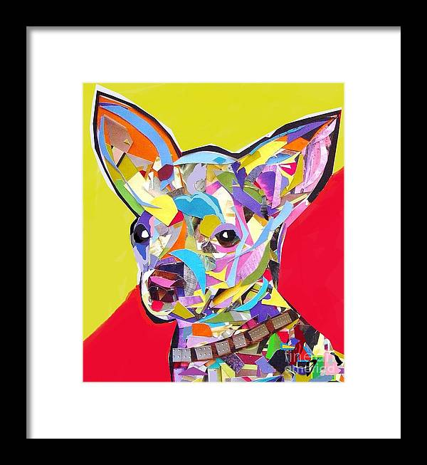 Chihuahua Framed Print featuring the digital art Chewy by Julie Hiskett