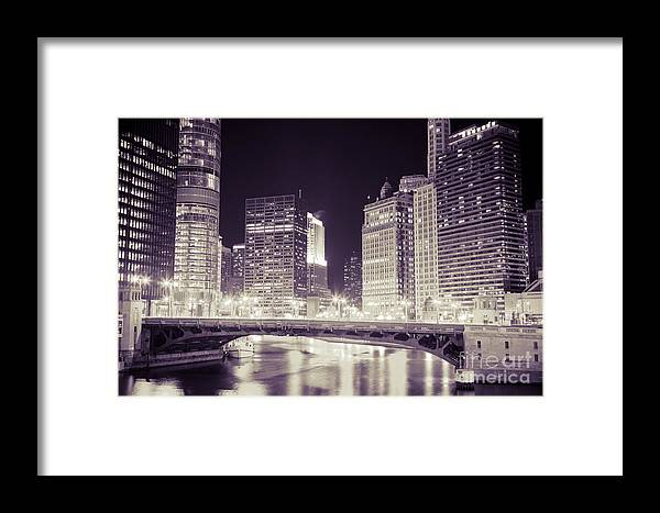 330 North Wabash Framed Print featuring the photograph Chicago Cityscape At State Street Bridge by Paul Velgos