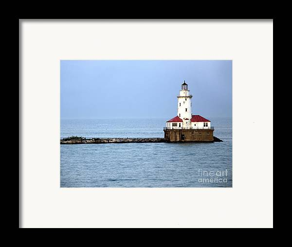 Chicago Framed Print featuring the photograph Chicago Lighthouse by Sophie Vigneault