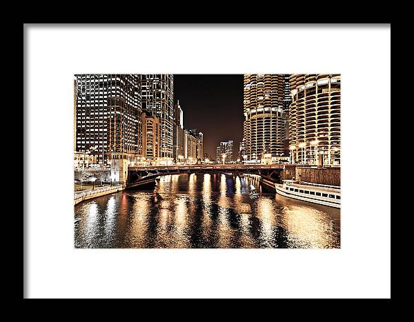 America Framed Print featuring the photograph Chicago Skyline At State Street Bridge by Paul Velgos