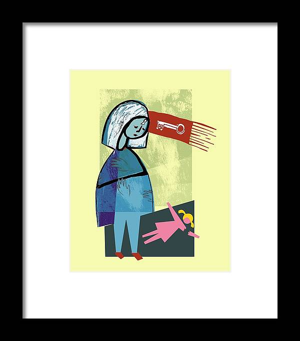 Visualizing Framed Print featuring the photograph Child Abuse by Paul Brown