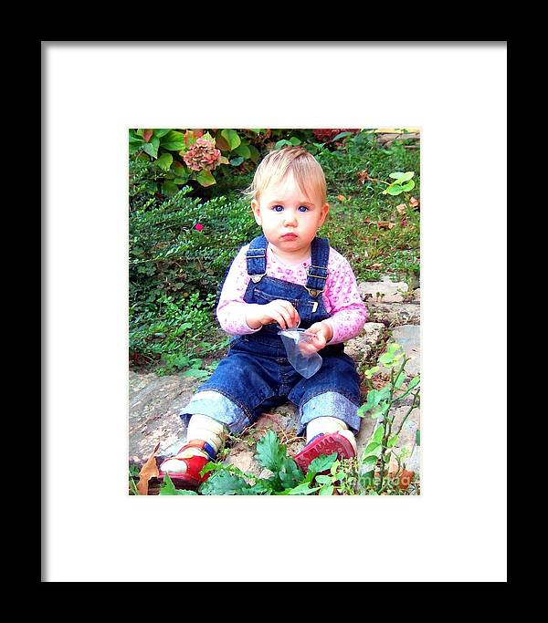 Child Framed Print featuring the photograph Child In Garden by RL Rucker
