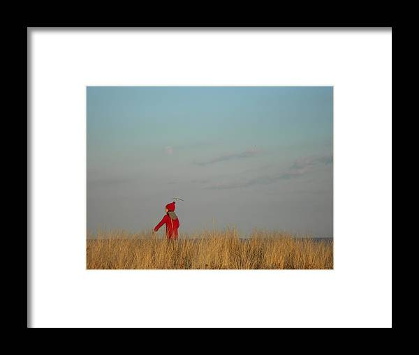 Landscape Framed Print featuring the photograph Child on the Dunes by Joe Burns