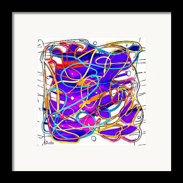 Childhood Framed Print featuring the digital art Childhood Memories by Alec Drake