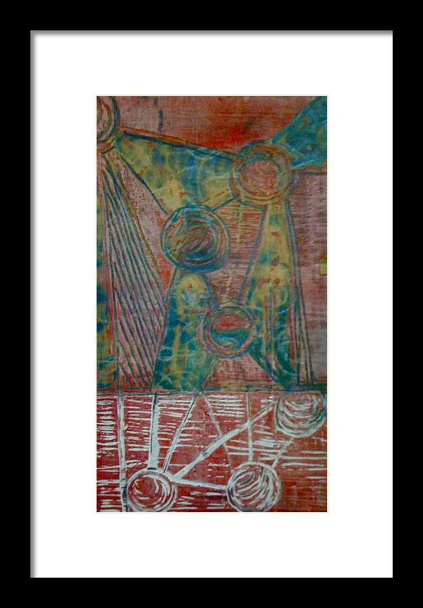 Abstract Figurative Framed Print featuring the mixed media Child's Play by Holly Suzanne