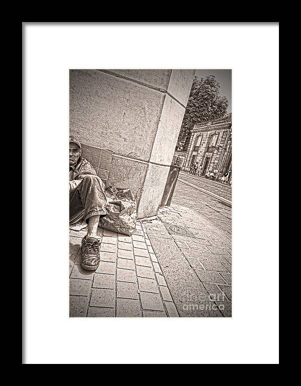 Street Framed Print featuring the photograph Chilling by Steven Van Gucht