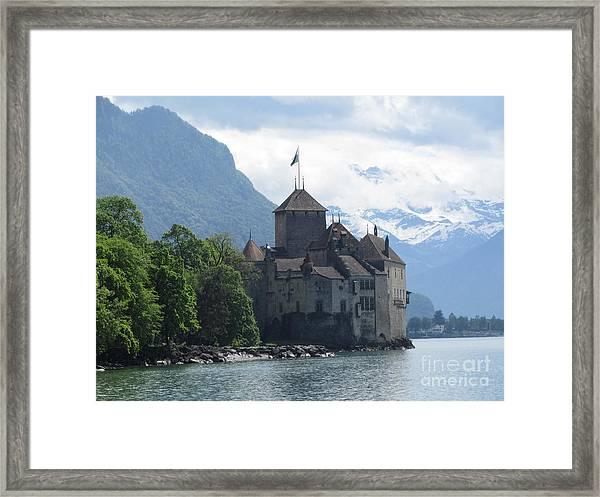 Chillon Castle Framed Print By Barbara Saccente
