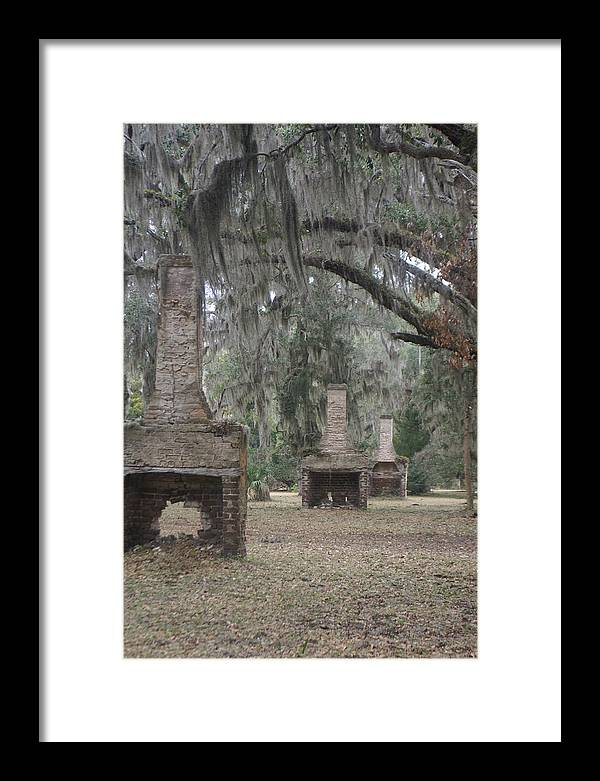 Chimney Framed Print featuring the photograph Chimneys Of Slave Cabins by Glenda Barber