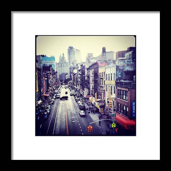 Urban Framed Print featuring the photograph Chinatown by Randy Lemoine