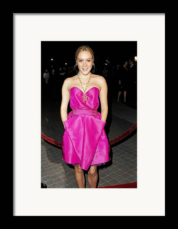 Zodiac Premiere Framed Print featuring the photograph Chloe Sevigny Wearing A Luella Dress by Everett