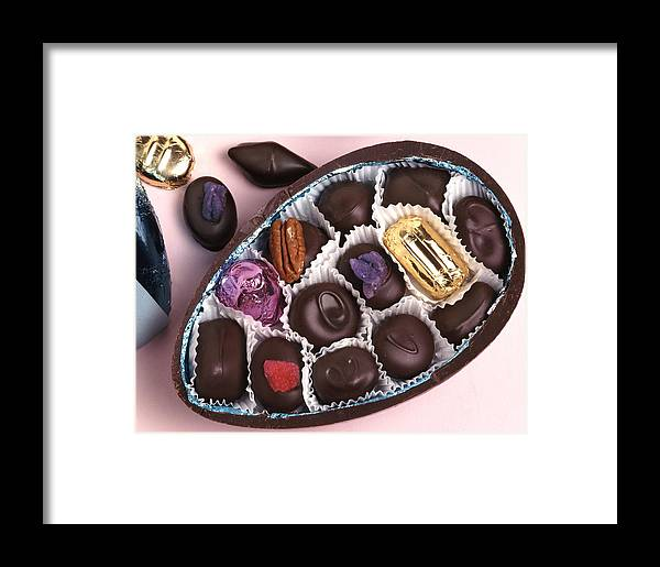 Chocolate Framed Print featuring the photograph Chocolates by Victor De Schwanberg