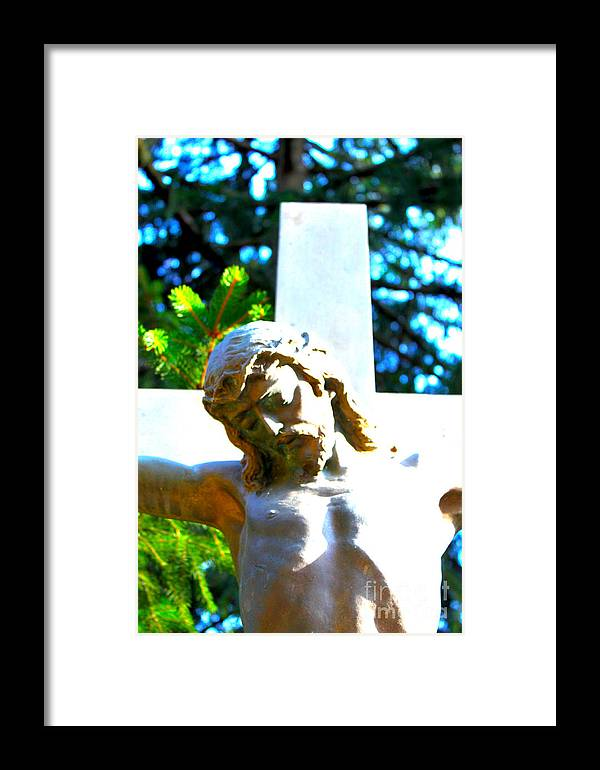 Religion Framed Print featuring the photograph Christ In Spring by Susan Riedl