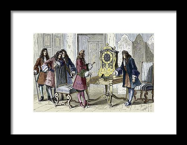 Christiaan Huygens Framed Print featuring the photograph Christiaan Huygens, Dutch Physicist by Sheila Terry