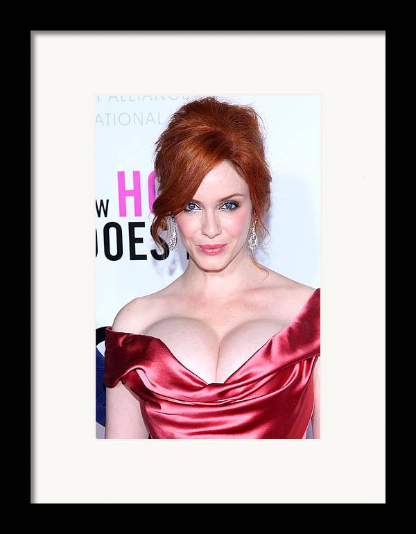 Christina Hendricks Framed Print featuring the photograph Christina Hendricks At Arrivals For I by Everett