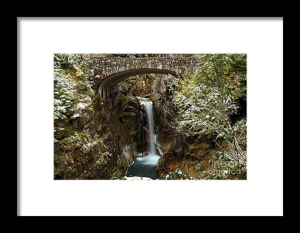 Christine Falls Framed Print featuring the photograph Christine Under The Bridge by Adam Jewell