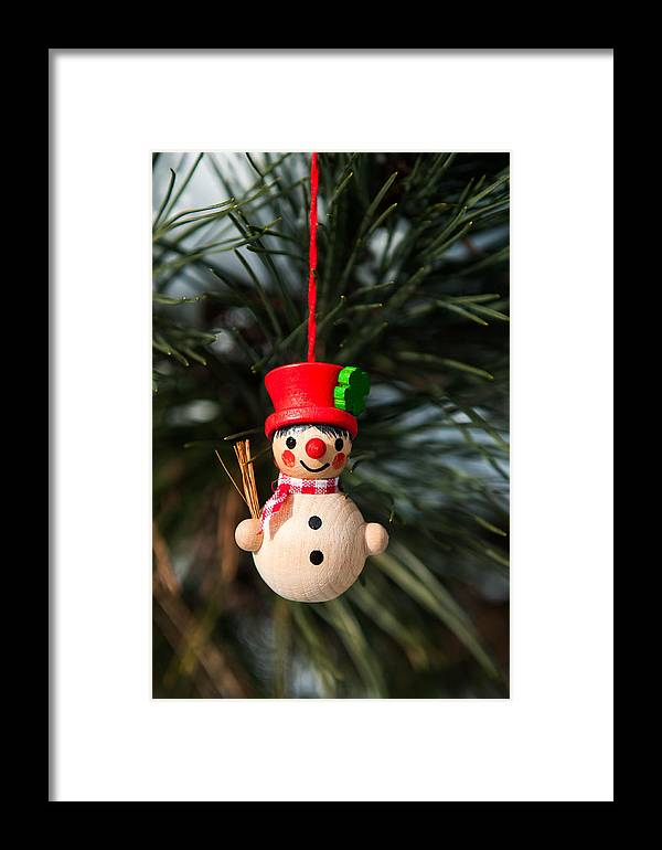 Christmas Framed Print featuring the photograph Christmas Tree Decoration by Nicole Couture-Lord
