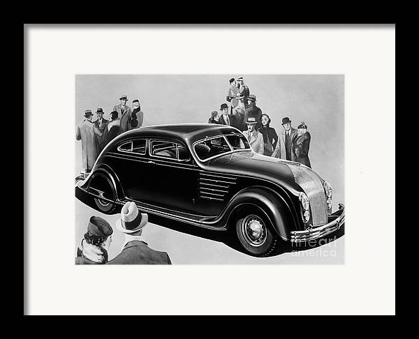Chrysler Airflow Framed Print featuring the photograph Chrysler Airflow by Photo Researchers