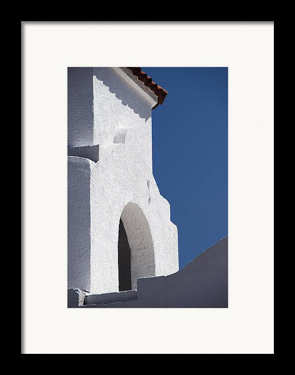 Architecture Framed Print featuring the photograph Church Bell Tower Chacras De Coria by Philippe Widling