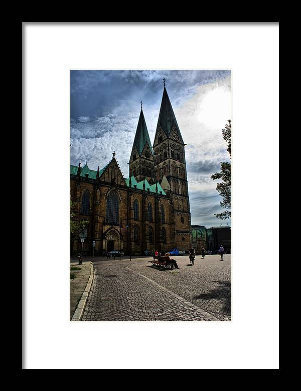 Bremen Framed Print featuring the photograph Church in Bremen Germany 2 by Edward Myers