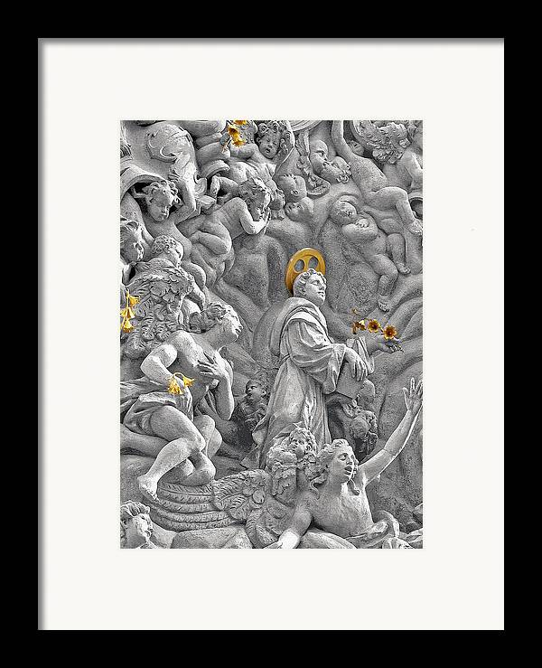 St Framed Print featuring the photograph Church Of St James The Greater Prague - Stucco Bas-relief by Christine Till