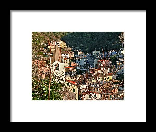 Cinque Terre Framed Print featuring the photograph Cinque Terre II by David Ritsema