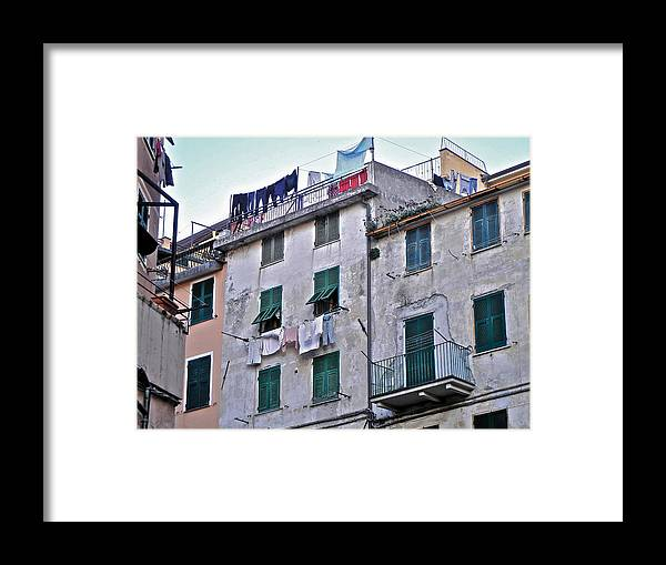 Cinque Terre Framed Print featuring the photograph Cinque Terre III by David Ritsema