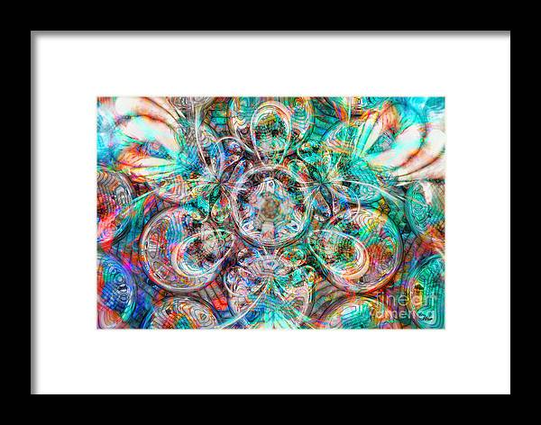 Circles Of Life Framed Print featuring the digital art Circles Of Life by Mo T