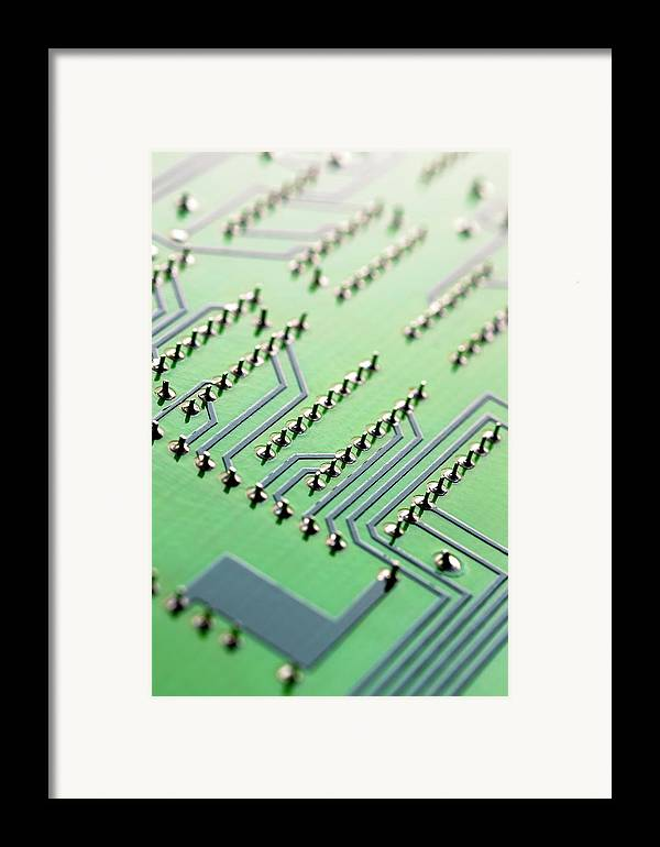 Vertical Framed Print featuring the photograph Circuit Board by Maria Toutoudaki
