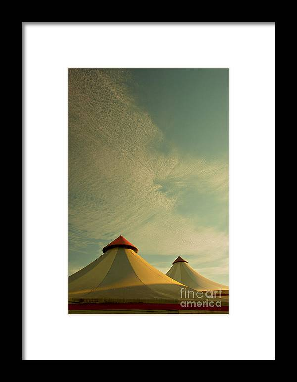 Circus Summers Retro Big Tops France French Sf Classic Fiction Framed Print featuring the photograph Circus Summers by Paul Grand