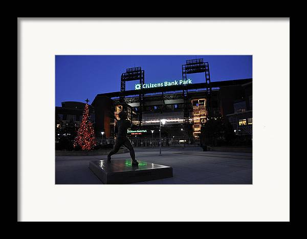 Citizens Bank Park Framed Print featuring the photograph Citizens Bank Park by Andrew Dinh