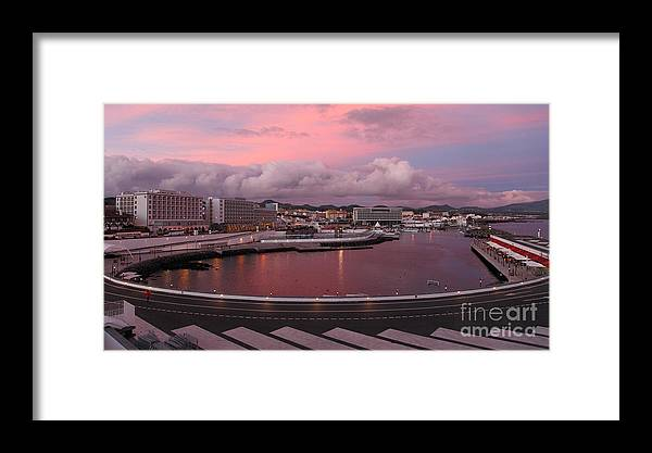 Ponta Delgada Framed Print featuring the photograph City At Dusk by Gaspar Avila