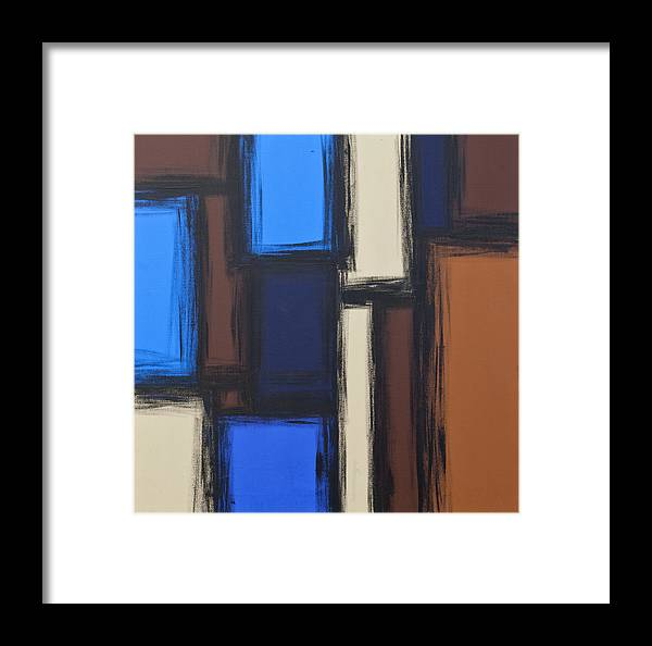 Abstract Framed Print featuring the painting City Block by Nikki Rondeau