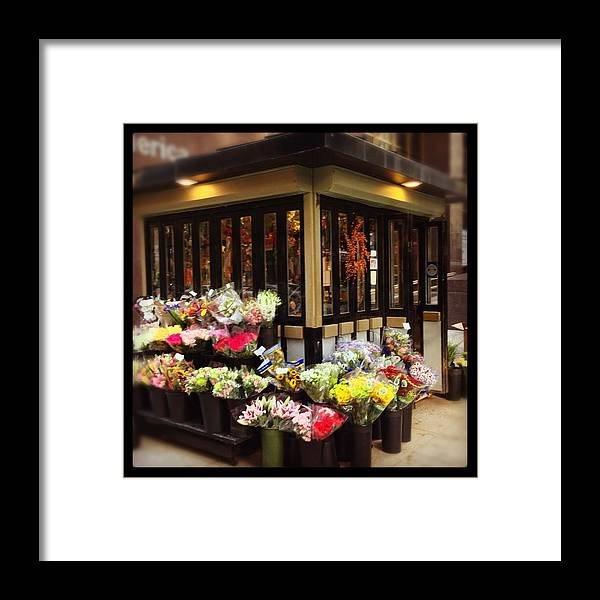 Framed Print featuring the photograph City Flowers by Mark Valentine
