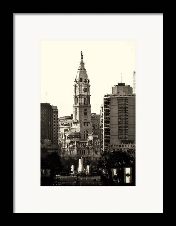Philadelphia Framed Print featuring the photograph City Hall From The Parkway - Philadelphia by Bill Cannon