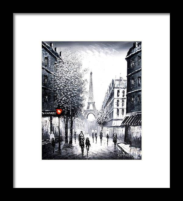 Landscape Framed Print featuring the painting City Of Love by Vishal Lakhani