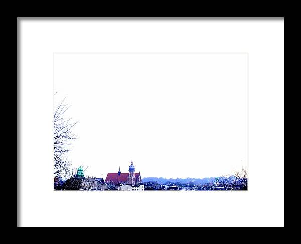 Snow Framed Print featuring the photograph City Snowscape by Lee Versluis
