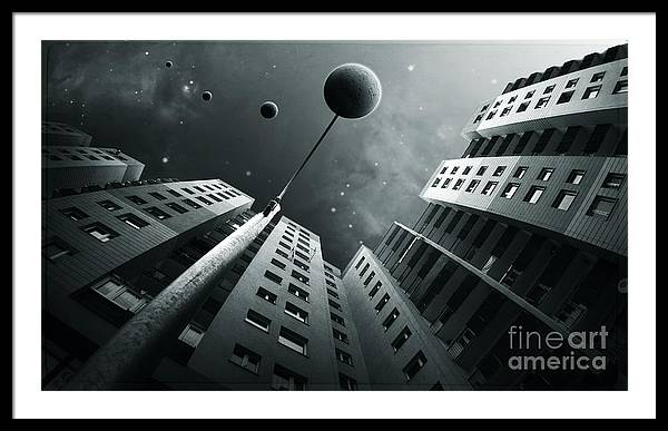 Surreal Framed Print featuring the digital art City2 by Simon Siwak
